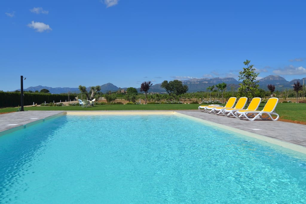 A  25.000m2 garden and a large  pool