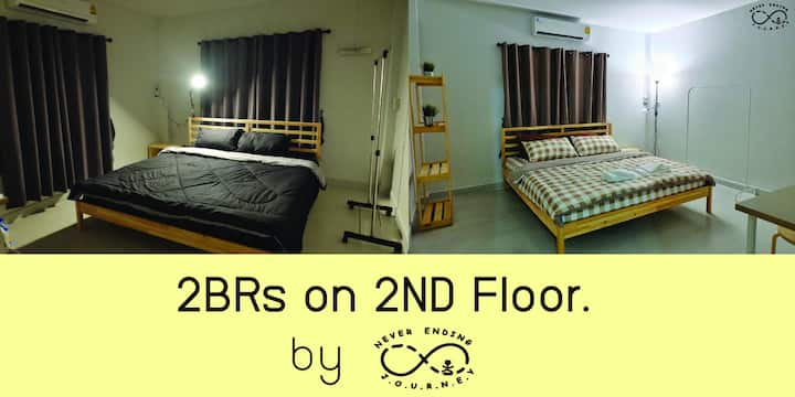 2BR On 2ND FL. [NEJ's home] near DMK airport