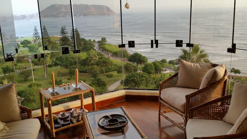 Miraflores, spectacular ocean view - Miraflores - อพาร์ทเมนท์