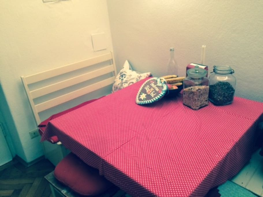 Cozy eating corner.