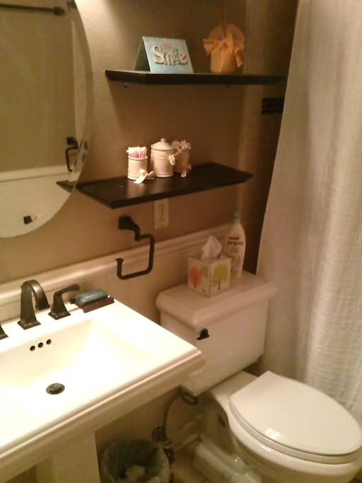 The Bathroom that is sometimes shared with a guest from the other room listed in this house.