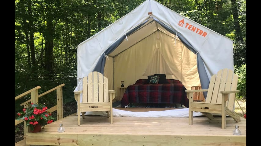 Camping on a private pond