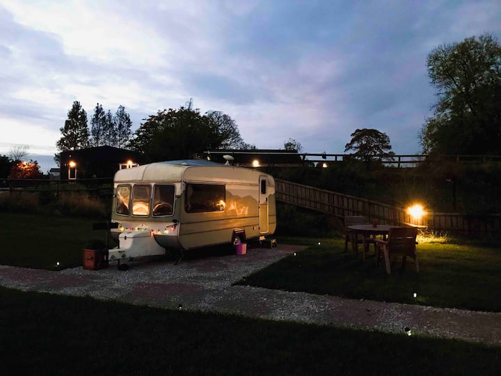 Glamping Caravan in the Peak District