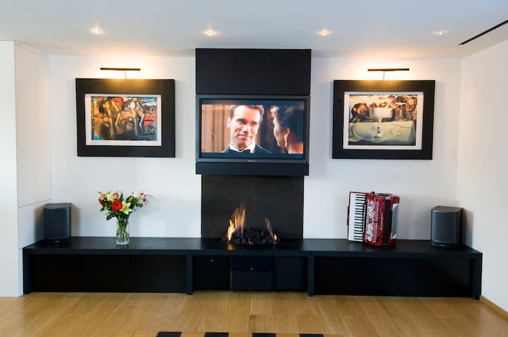 The button trigger 34kW fireplace is taboo!