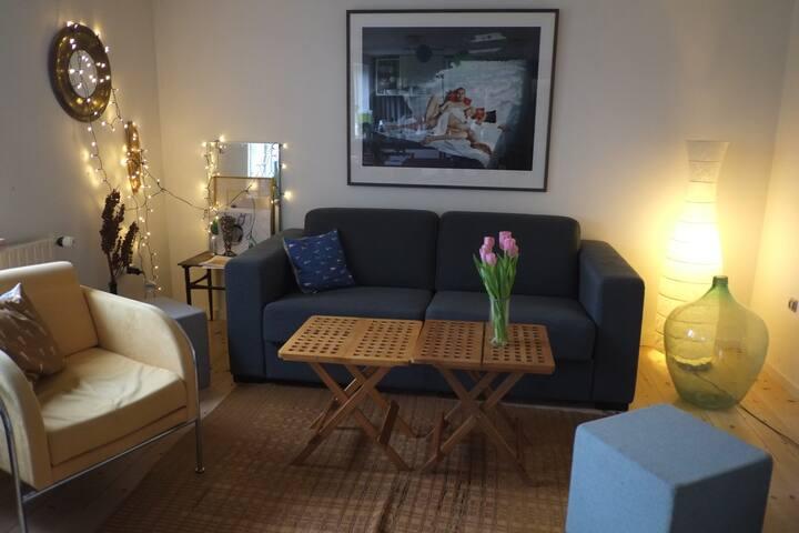 Hyggeligt værelse og gode faciliteter