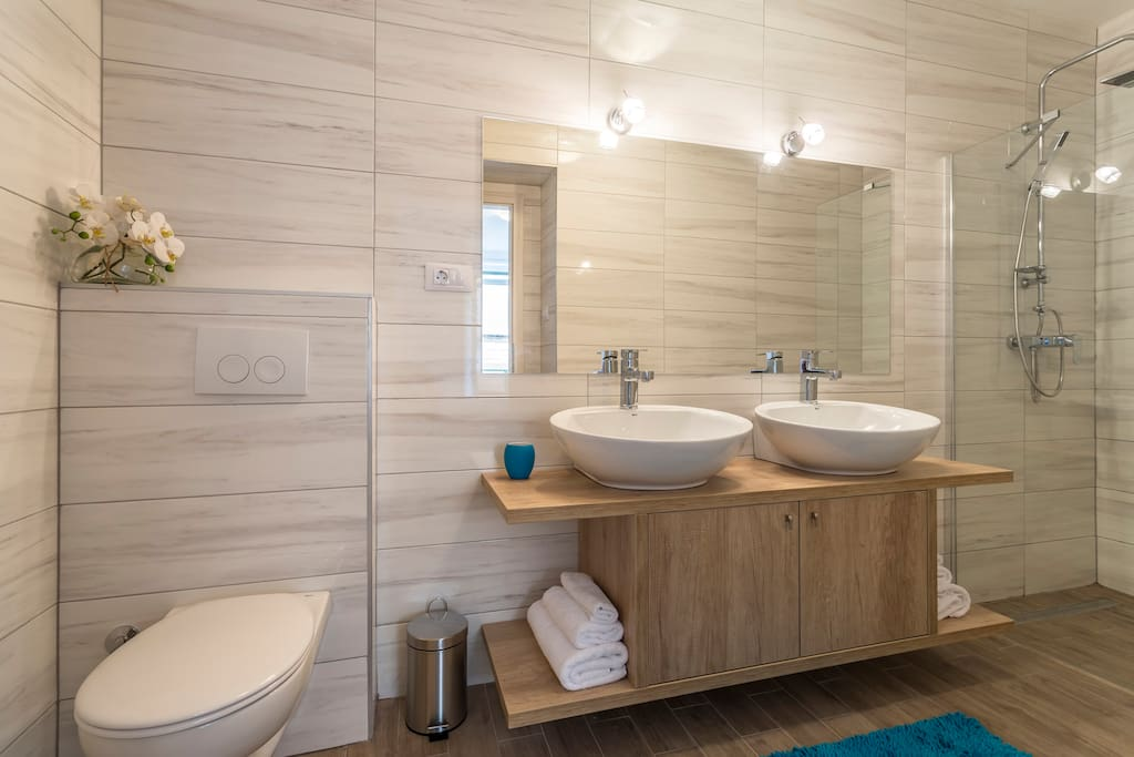 bathroom with two basin