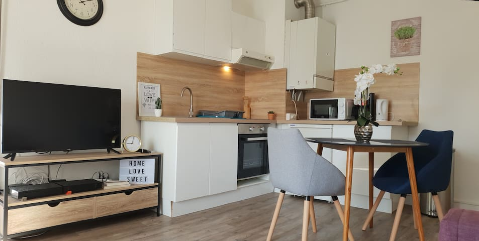 Joli studio tout confort place de parking et wifi
