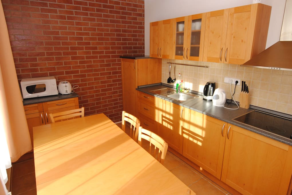 Chalet features fully equipped kitchen.