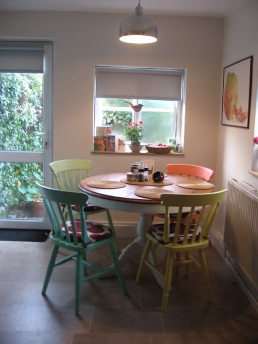 The dining area of our kitchen.