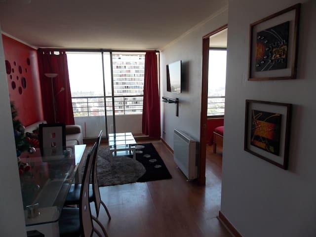 Apartamento full equipo en el centro de Santiago