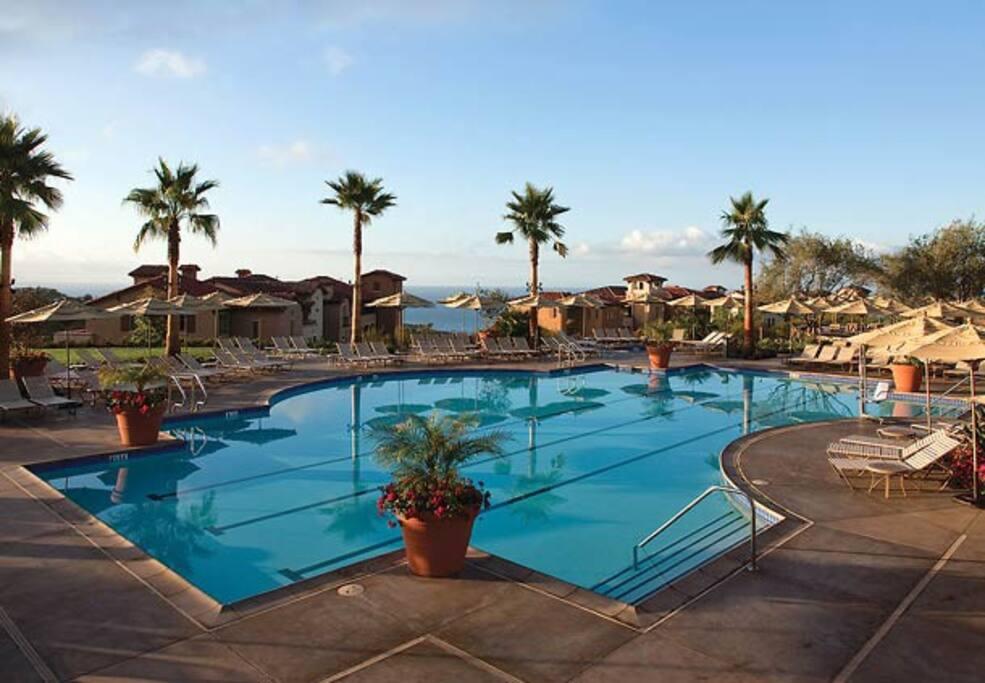 Main pool overlooking the ocean