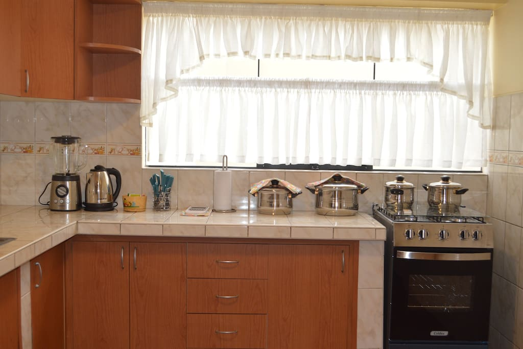 Enjoy cooking your own meals in our fully stocked kitchen