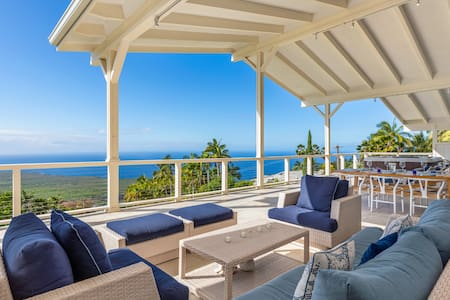 Luxury Home, Amazing Ocean View -BIG lanai HOT TUB