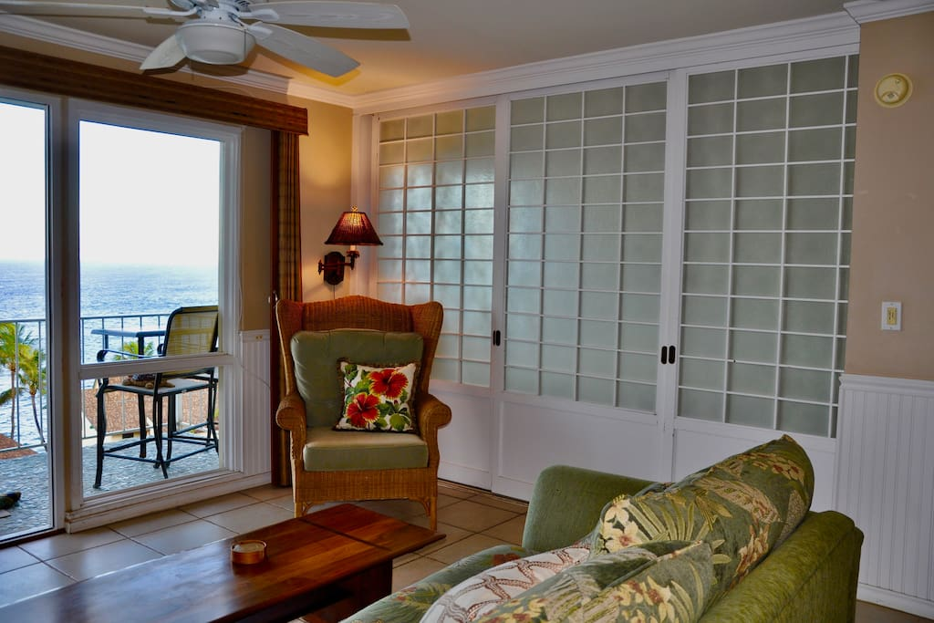 Privacy doors to bedroom