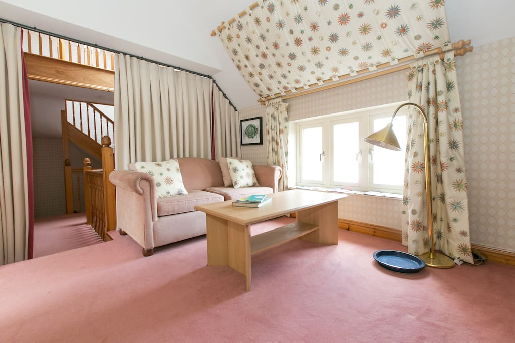 There is a private, curtained landing area to relax, research local walks or just read a book. Tea & Coffee facilities are provided in the rooms or can be taken here.