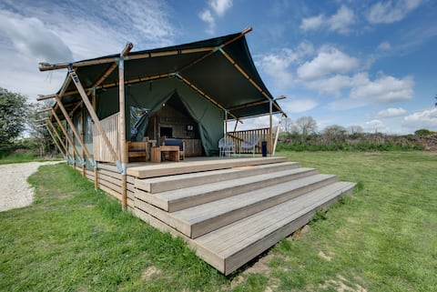 Private Safari Tent, sleeps 4, Ashover, Derbyshire