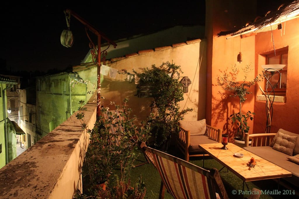 Your private terrace by night!
