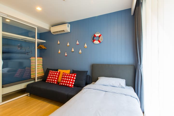 Bedroom 2 - Single Bed + Sofa Bed, Floor Mattress (available)