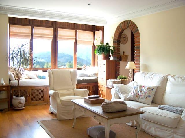 Acogedor apartamento en pleno pueblo de montaña.