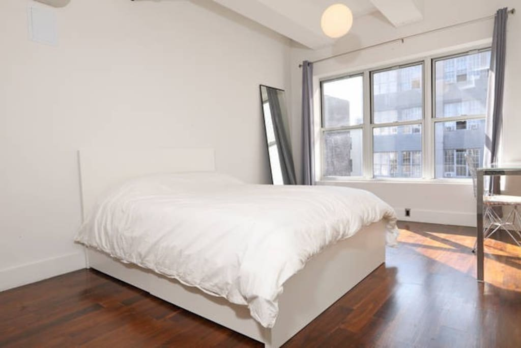 Your private master bedroom with queen-sized pillow top bed