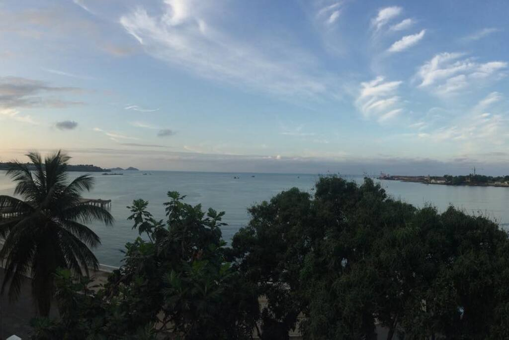 Panoramic view from the apartment balcony