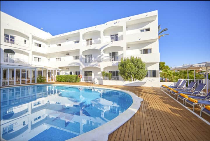 Holiday Apartment 'Ariel 2 Gavimarhotels' with Wi-Fi, Balcony, Shared Garden & Pool; Parking Available