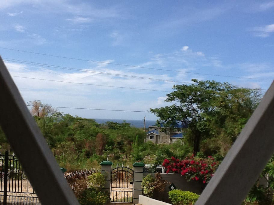 Sea view from front verandah