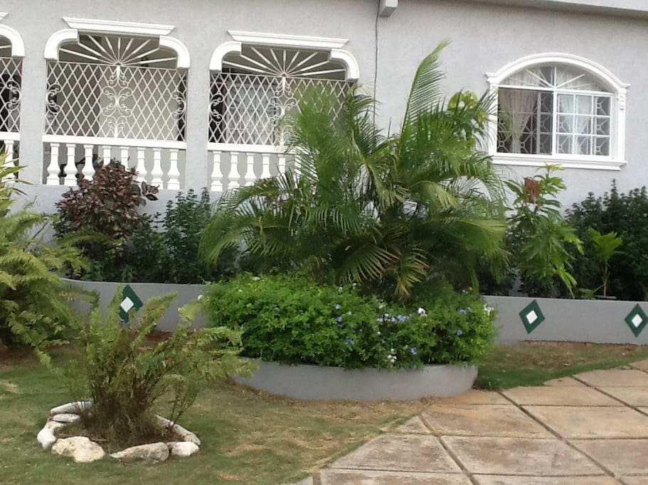 Partial view of front garden