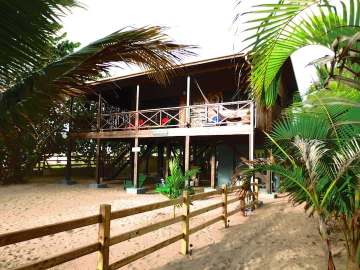 Beachfront Blue Moon Cabana