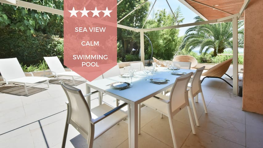 ☀️ 100m² TERRACE ☀️ VIEW OF THE SEA☀️ LUXURY BUILDING ☀️ SWIMMING POOL ☀️
