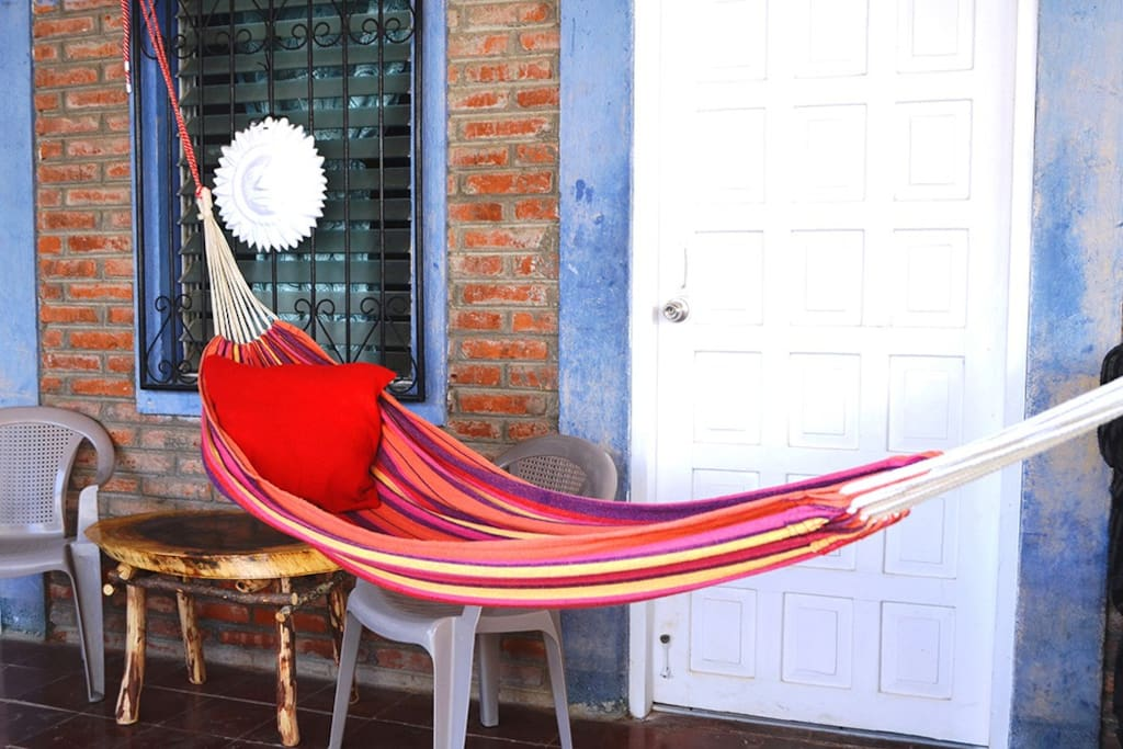Small patio with hammock & Chairs
