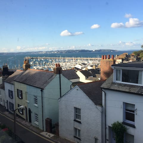 Traditional cottage, sea views - Brixham - Dom