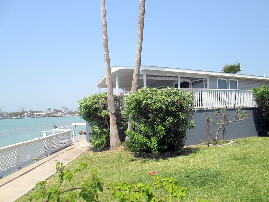 Rear/Side View of Property - right on Intercoastal Waterway!