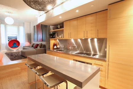 Award winning Dwell magazine Loft located in the heart of historic Gastown.  A one bedroom luxury condo featuring over 1,000 square feet for design architecture focused living.  The interior is unique and simply beautiful.