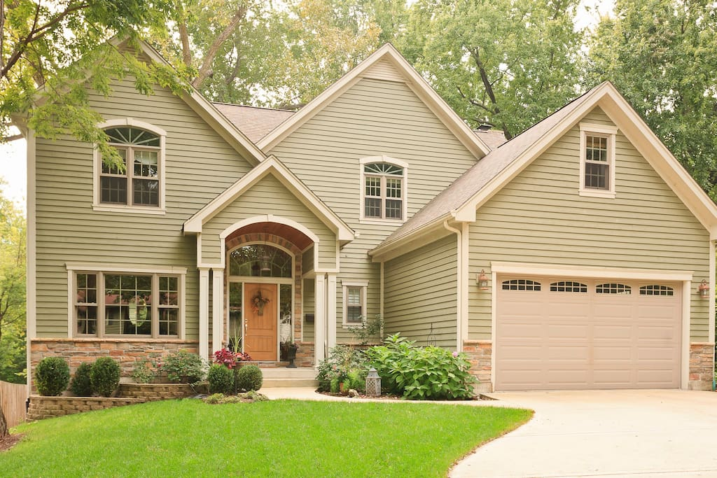We live in a beautiful custom home on a lovely tree-lined street in  a Chicago suburb