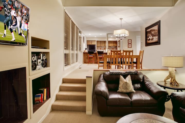 The open concept/space allows for great interaction between family members/friends.