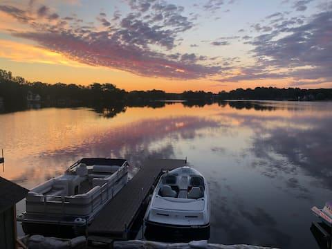 Stay Awhile, beautiful Pine Lake sunrises