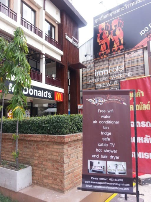 Located in the small lane next tour McDonald at Thapae gate.