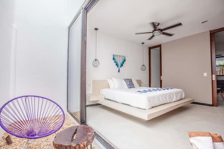Cozy loft in the heart of Downtown Tulum. #01