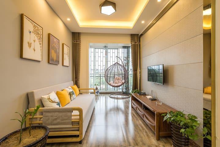 荔波古镇/缘分你我/温馨式家庭公寓/独卧大床