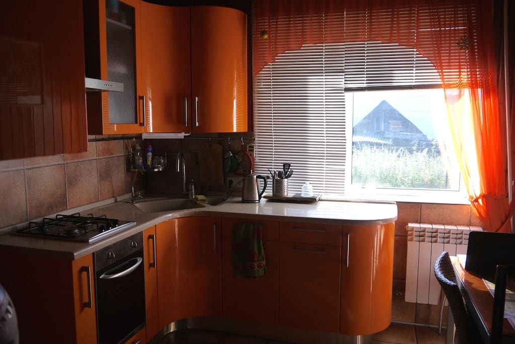 Kitchen for cooking
