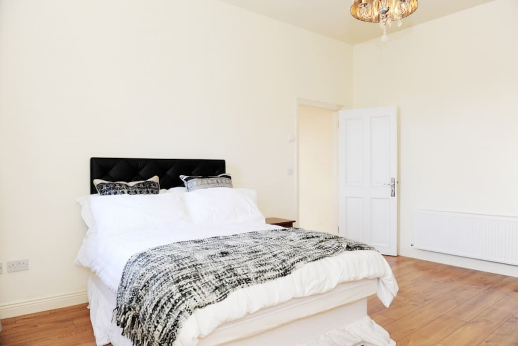One of the bedrooms, all 4 come with double beds