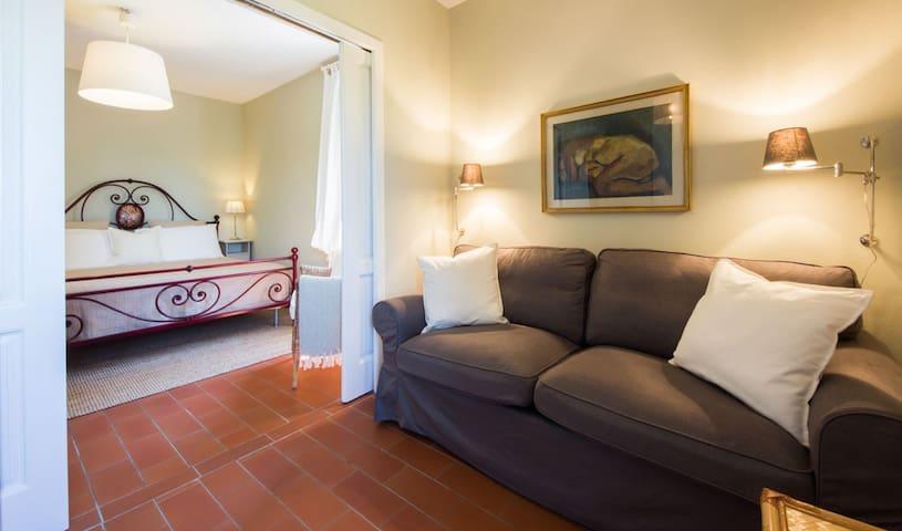 salottino/2camera da letto con porta scorrevole per dividere le camere da letto