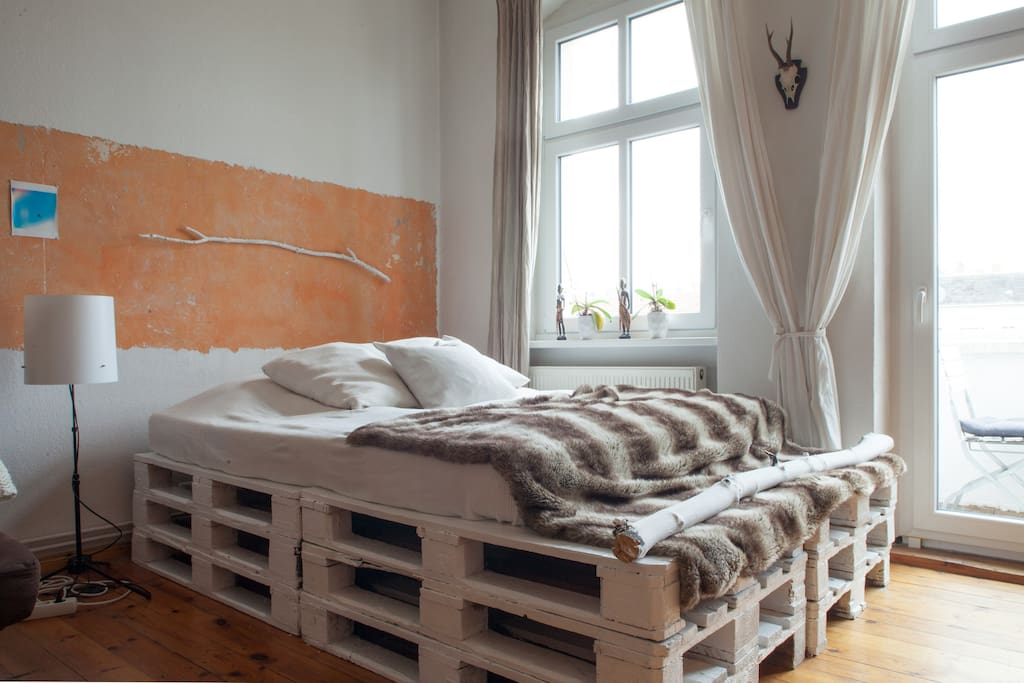 Comfy mattress for a nice rest after an exciting day exploring Berlin