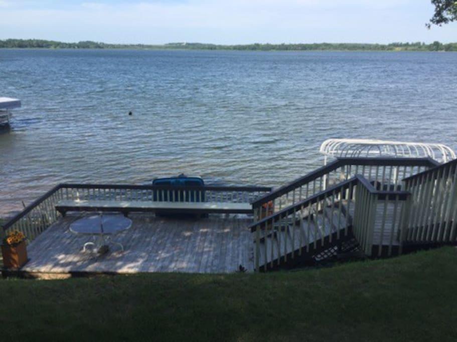 Decking near Lake