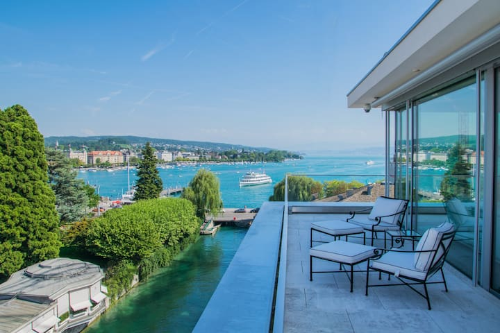 Penthouse Suite - overlooking the lake and alps