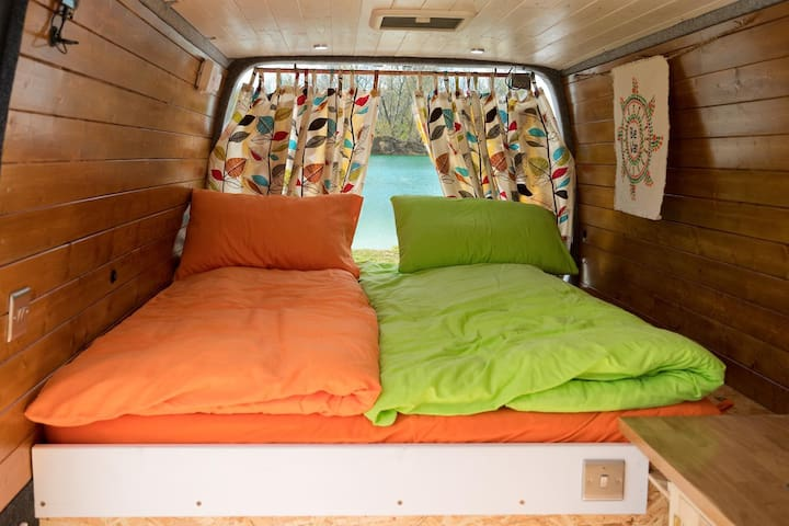 Unique Self Build Campervan for hire in Slovakia