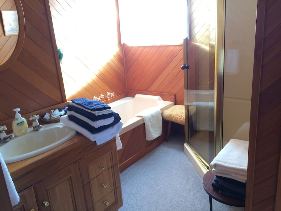 Full bathroom and separate toilet