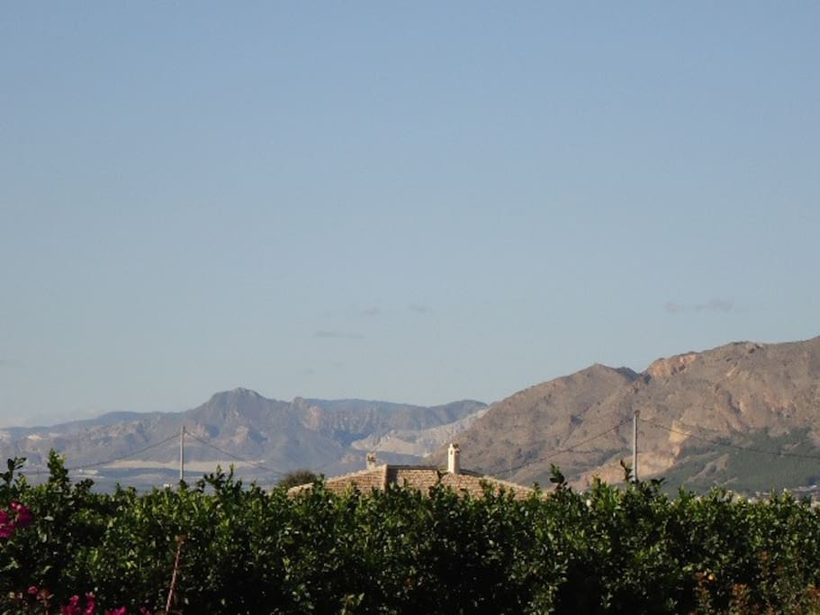 This is our mountain views from our terrace/nave