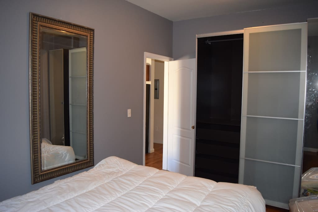 Feel free to use the wardrobe to store your stuff during your stay.